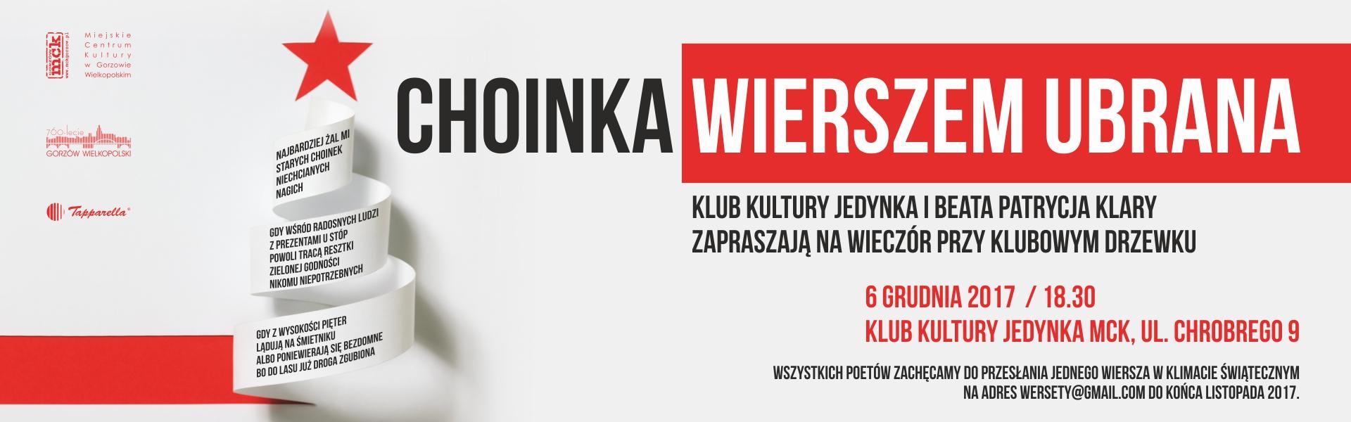 Baner Choinka Wierszem