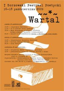 """Grafika wpisu I Gorzowski Festiwal Poetycki """"WARTAL"""" 2009"""