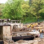 Fundamenty pylonu przebudowywanego amfiteatru w Gorzowie