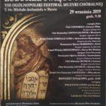 Chór Cantabile na VIII Ogólnopolskim Festiwalu Muzyki Chóralnej, Sława 2019 - plakat