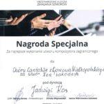 Nagroda Specjalna dla Chór Cantabile na Międzynarodowych Muzycznych Zmaganiach Seniorów, Szczecin 2019