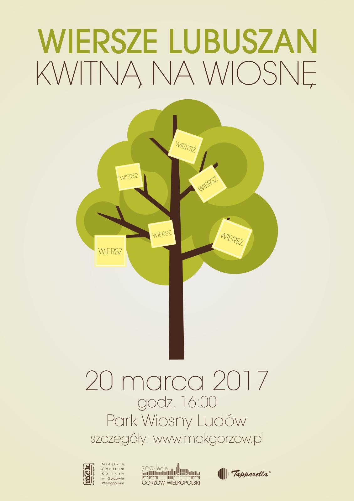 Wiersze Lubuszan Kwitną Na Wiosnę Miejskie Centrum Kultury