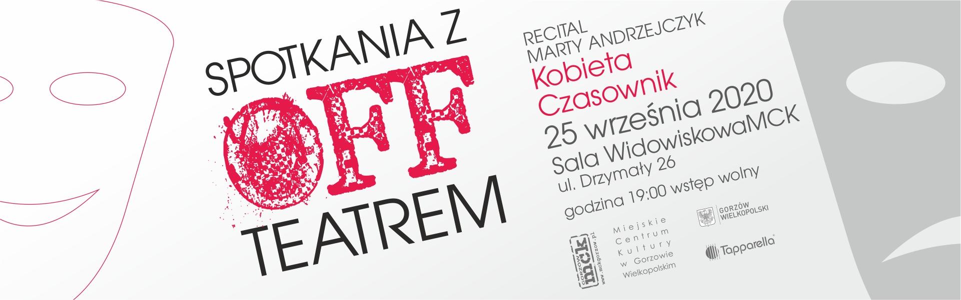 baner recital Kobieta Czasownik 25 września 2020