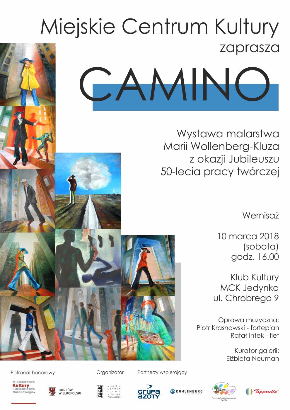"""Grafika wydarzenia """"Camino"""" – Wernisaż wystawy Marii Wollenberg-Kluza"""