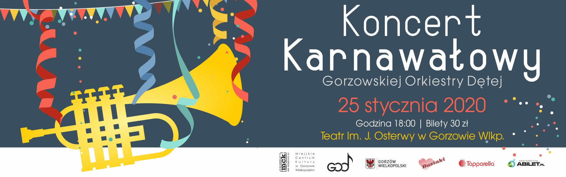 Koncert Karnawałowy Gorzowskiej Orkiestry Dętej