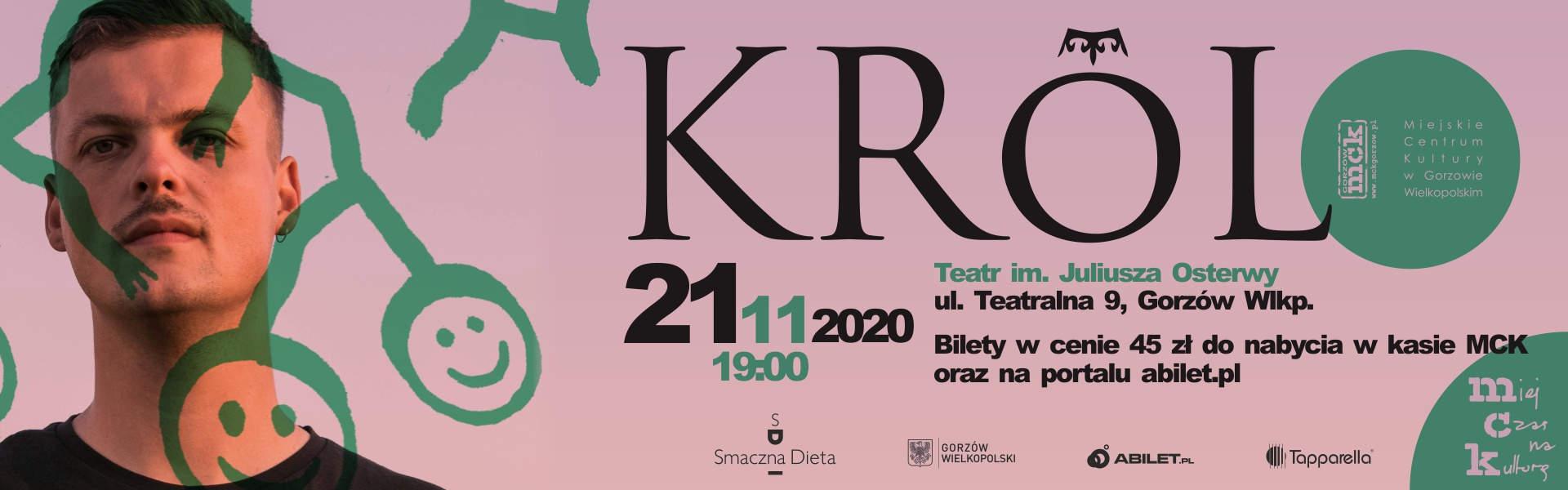 Baner wydarzenia Koncert Króla w teatrze 21 listopada 2020