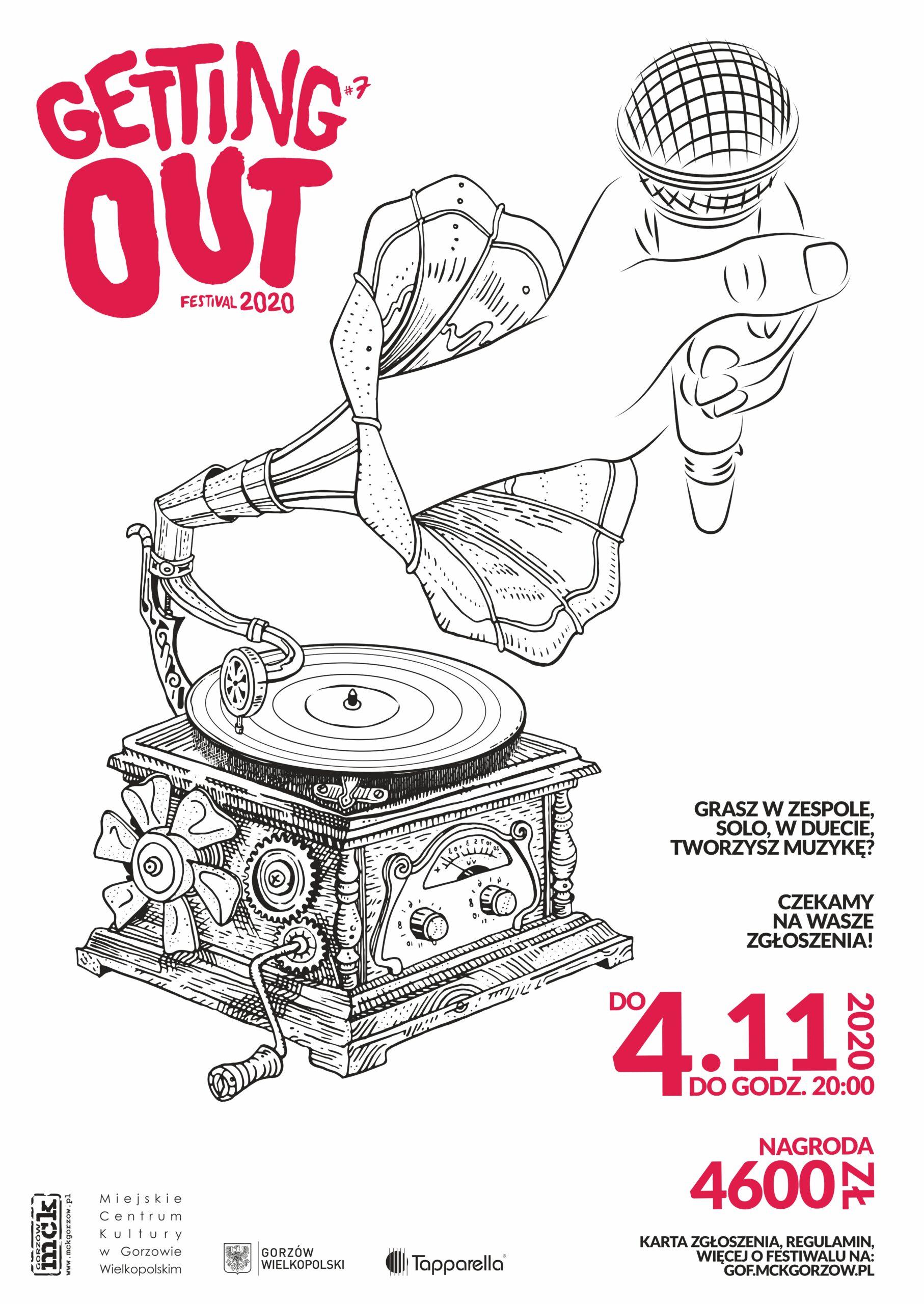 Grafika wpisu Getting Out Festival 2020 – czekamy na zgłoszenia!