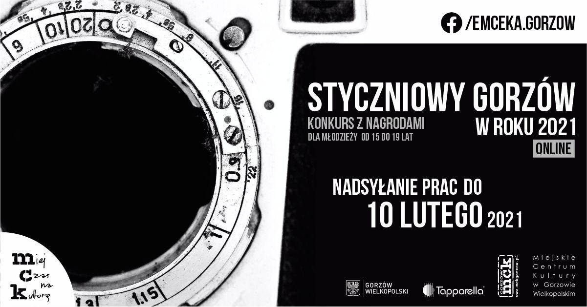 """Grafika wpisu """"Styczniowy Gorzów w roku 2021"""" – konkurs fotograficzny z nagrodami"""