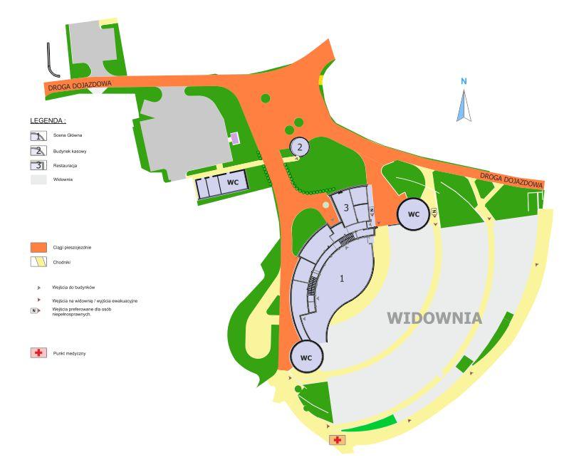 Plan Amfiteatr - teren
