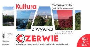 Grafika wpisu KULTURA Z WYSOKA – CZERWIE – etnoakustik koncert na górze