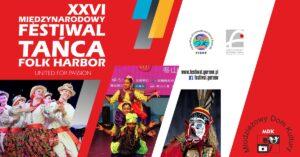 """Grafika wpisu XXVI Międzynarodowy Festiwal Tańca """"Folk Harbor"""" – Gorzów 2021"""