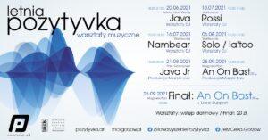 Grafika wpisu Letnia Pozytyvka – Warsztaty Muzyczne