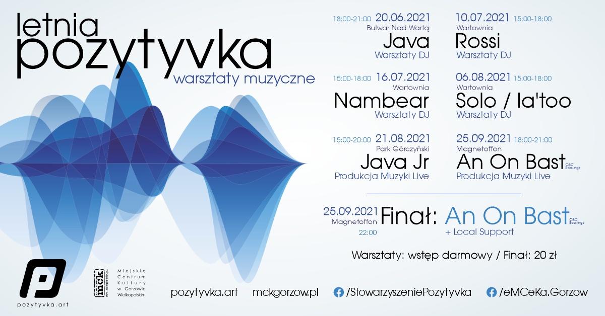 Grafika wydarzenia Letnia Pozytyvka – Warsztaty Muzyczne + Finał